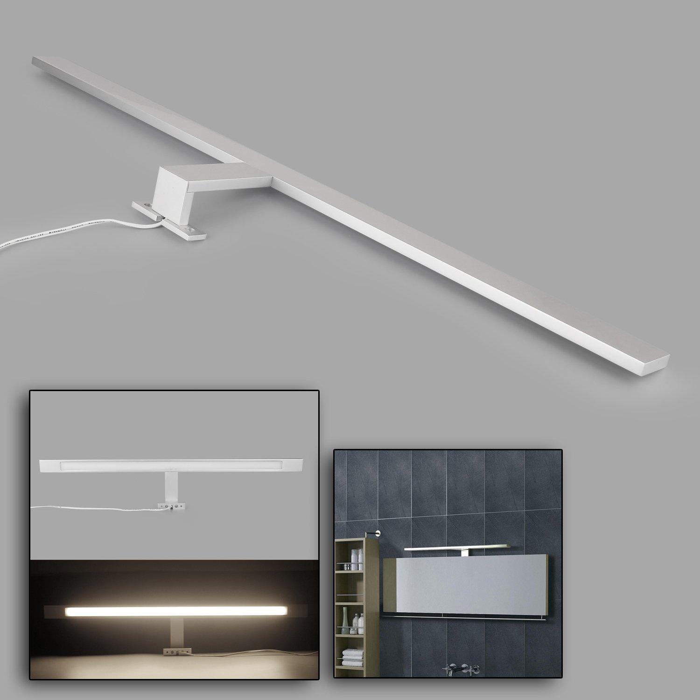 LED Spiegelleuchte,12W, 600mm, Alumina, Warmweiß(3000K), 1100lm, 72x2835SMDs, Badleuchte Schrankleuchte Wandlampe Wandleuchte [Energieklasse A+] Warmweiß(3000K) Kefflum