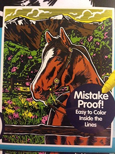 Horse Color Your Own Jumbo Velvet Poster