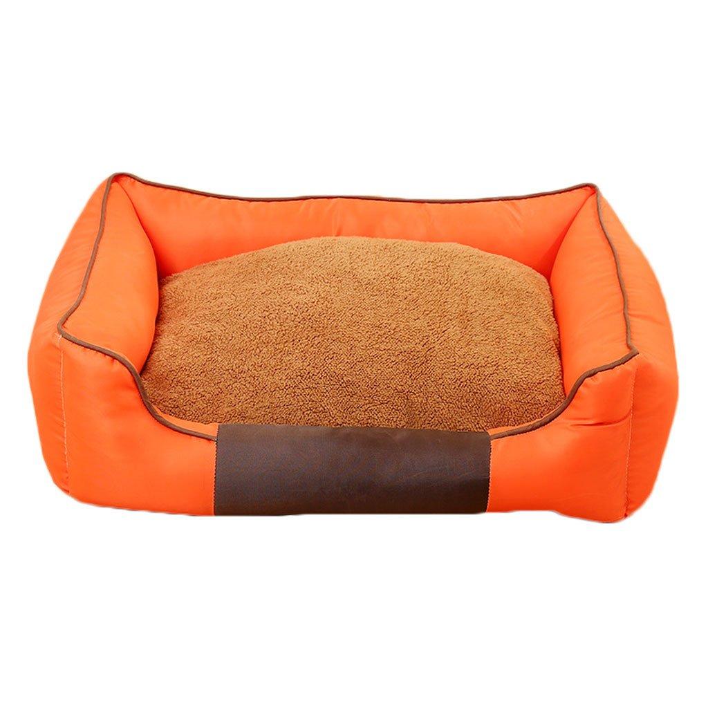 orange M orange M GCHOME dog bed Pet bed Oxford cloth dog nest soft and comfortable breathable waterproof non-slip durable multi-color optional A1 (color   orange, Size   M)