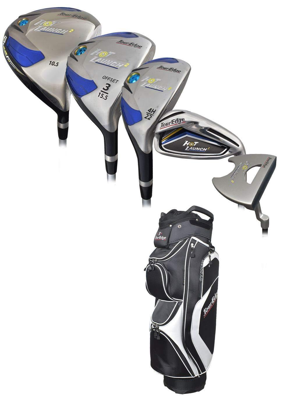 Tour Edge ゴルフ ホットローンチ 2コンプリートセット グラファイトバッグ付き B07NHNXZZB シニア Right