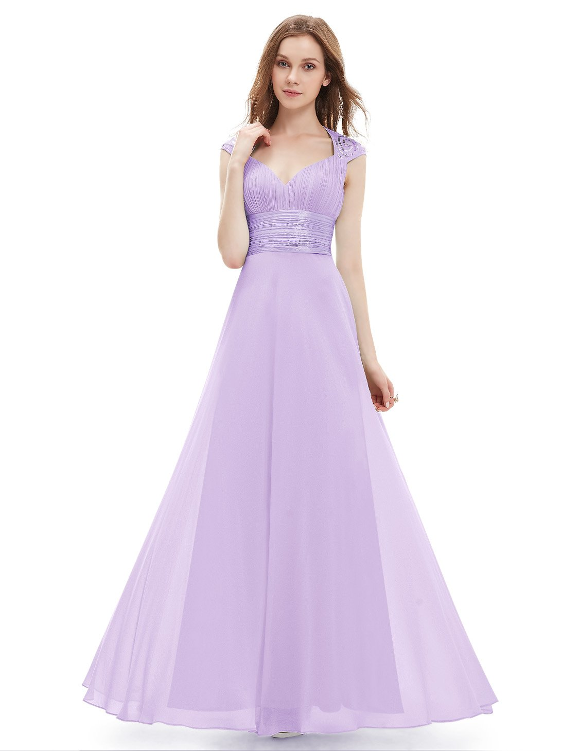 Ever-Pretty Womens Empire Waist Formal Long Military Ball Gown 12 US Light Purple by Ever-Pretty (Image #3)
