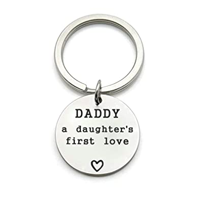 Aooaz llaveros Hombre Grabado Daddy A Daughters First Love ...