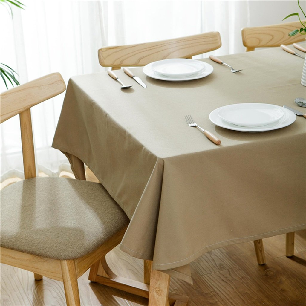 Manteles Mantel rectangular llanura comedor de algodón - Mesa de ...