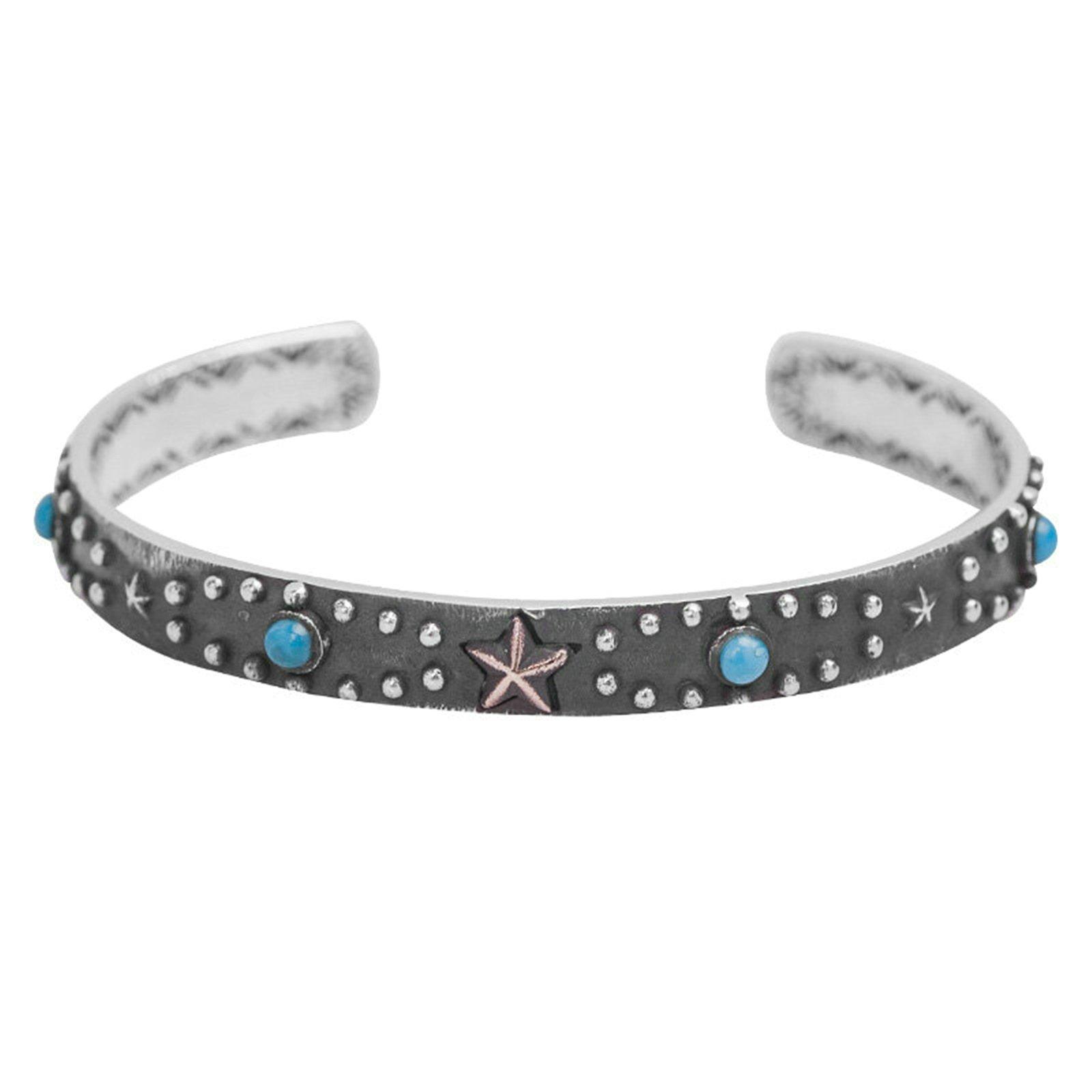 Daesar 925 Silver Bracelet For Women And Men Turquoise Star Unisex Bracelet Silver