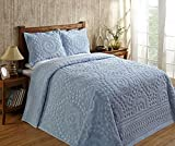 Better Trends / Pan Overseas 120 x 110'' Rio Bedspread, King, Blue