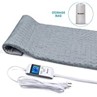 """Blusmart Heating Pad, Upgrade Ultra Soft Fast-Heating PaUd w/Precise Temperature Control & Auto Shut-Off Design, Effectively Relieves Neck, Shoulder, Back, Wrist, Leg Pain - 12""""×24"""""""