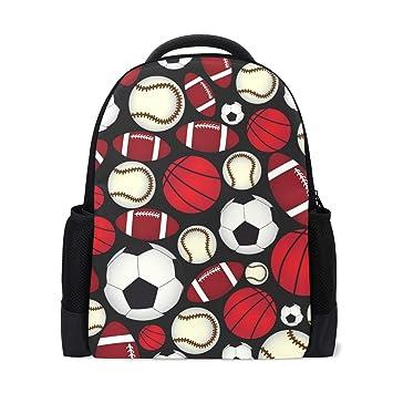 ISAOA Mochila Escolar para niños, para niñas, Deportes, fútbol ...