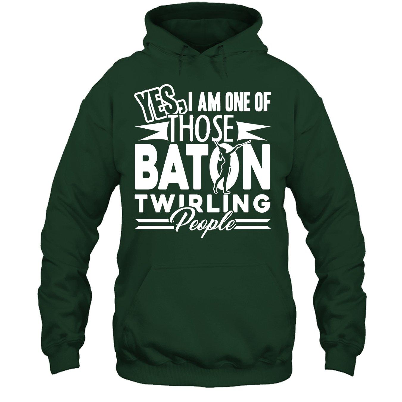 Baton Twirling Tee Shirt I Am One of Those Baton Twirling People T Shirt