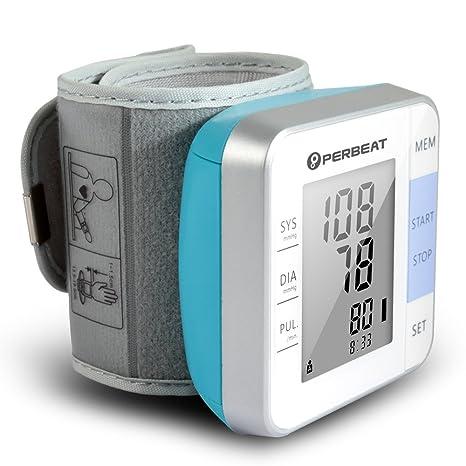 Perbeat Tensiómetro Automático Digital de Muñeca con Detección de Pulso, Modo 2 Usuarios, Recuerdo