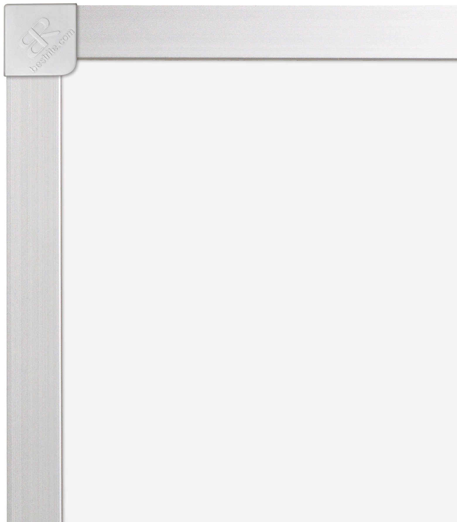Best-Rite ABC Classroom Dry Erase Porcelain Steel Magnetic Markerboard, 4 x 4 Feet Whiteboard (2H2ND-25)