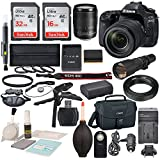 Canon EOS 80D DSLR Camera with EF-S 18-135mm f/3.5-5.6 IS USM Lens and 500mm f/8 Manual Focus Telephoto Lens + T-Mount Adapter along with Deluxe accessory bundle