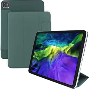 Iceagle Strong Rebound Magnetic Smart Case for iPad Pro 11 2020,Convenient Magnetic Attachment [Supports Apple Pencil Pairing & Charging], with Trifold Stand&Auto Wake/Sleep (Night Green)