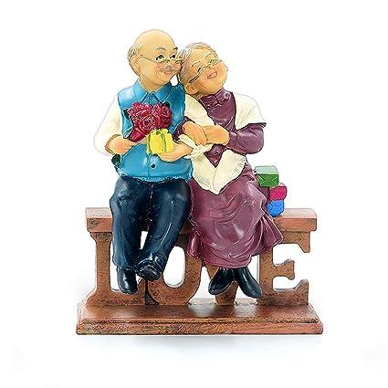 Aoneky Statuette Couple En Résine Sculpture Décorative Du