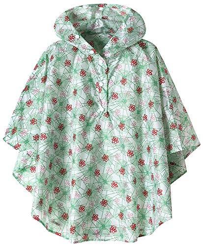 - Kids Lightweight Waterproof Rain Poncho Coat Cobweb XX-Large