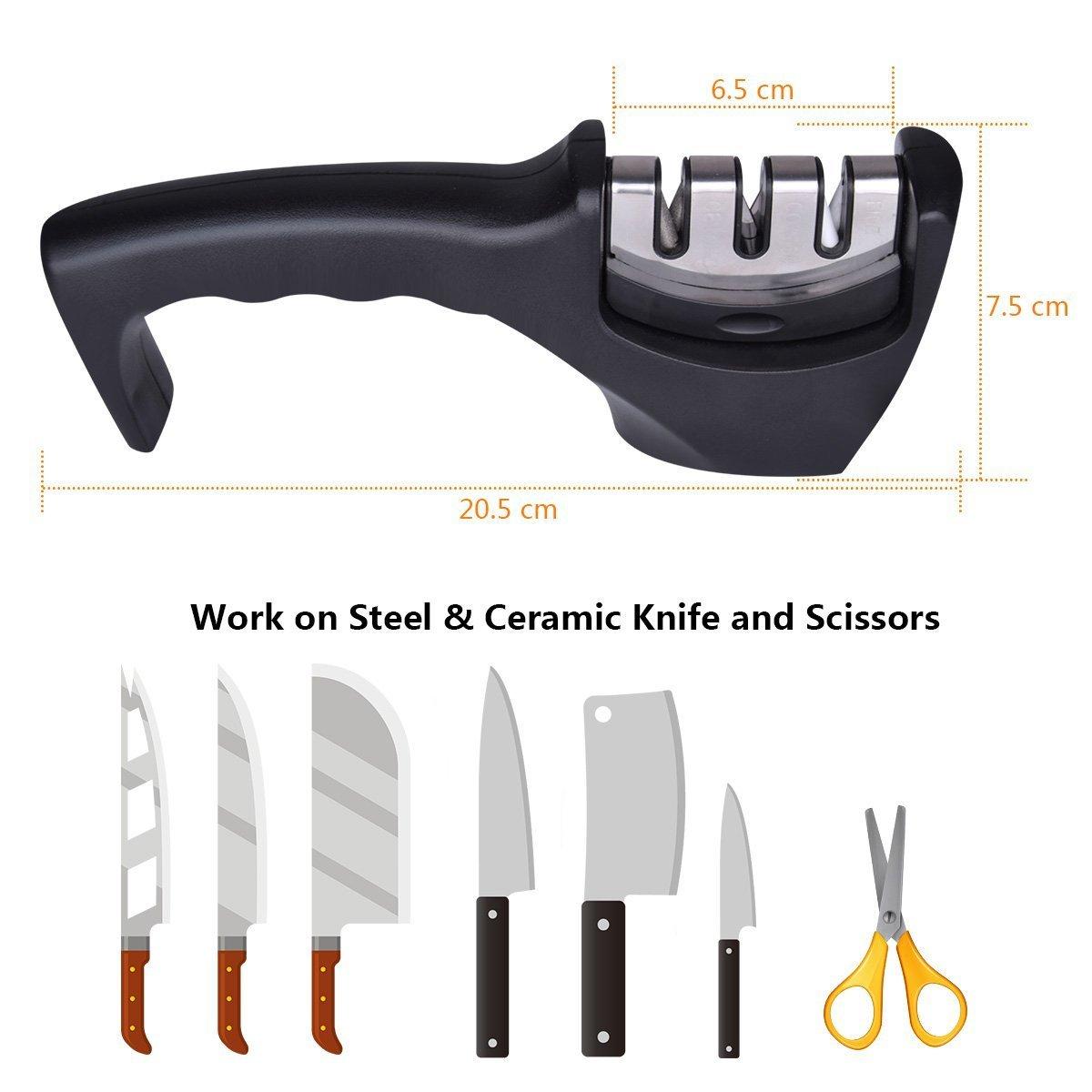 Amazon.com: Afilador de cuchillo de cocina. Afilador de ...
