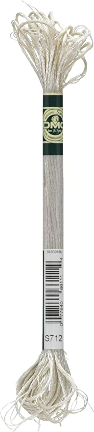 8.7-Yard DMC 1008F-S5200 Shiny Radiant Satin Floss Snow White
