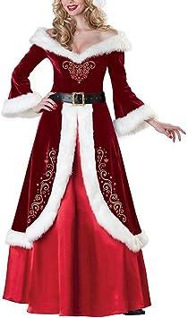 mnoMINI Vestido de Navidad, Disfraz de Navidad para Mujer, Vestido ...