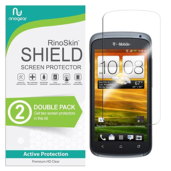 Amazon.com: (2-Pack) RinoGear HTC One S Screen Protector ...