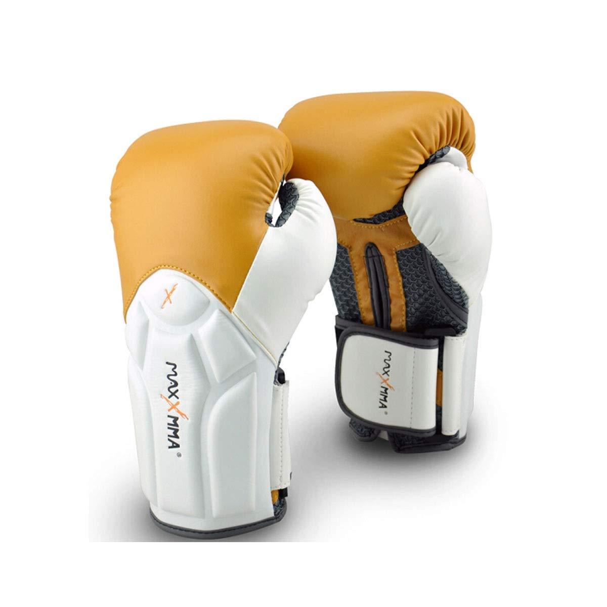 ZHIC ボクシングリストバンドグローブ、フィットネストレーニングムエタイ三田格闘技手袋、ラクダのファッション Life is movement  14OZ