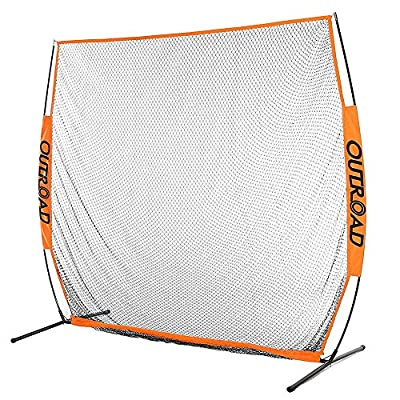 Outroad 7x7 ft Portable Golf Net Hitting Pitching Practice Driving with Carry Bag, Training for Outdoor/Indoor/Backyard (Orange)