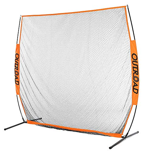 Outroad 7x7 ft Portable Golf Net Hitting Pitching Practice Driving with Carry Bag,Training for Outdoor,Indoor,Backyard (Orange)