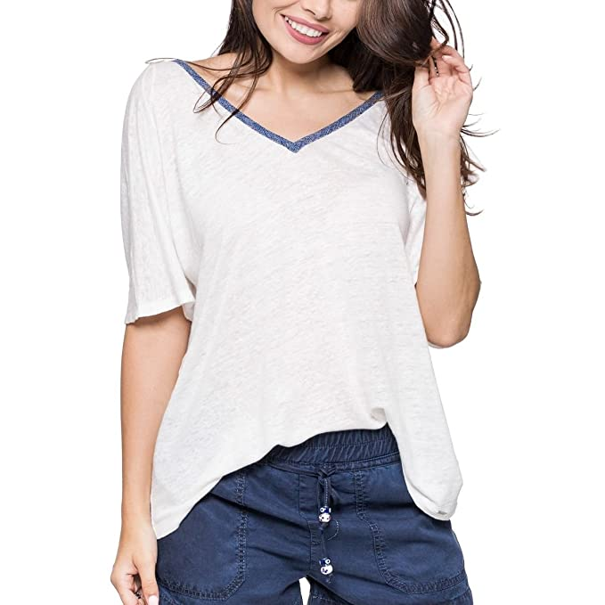 Lino Jeans Camiseta WhiteAmazon esRopa S Pepe Mujer London Off Y H9WDIE2eY