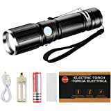 Zglon Ultra Bright Tactical Flashlight, Portable High Power Torch Flashlights Rechargeable(18650) Battery Included for Camping Security, Emerge