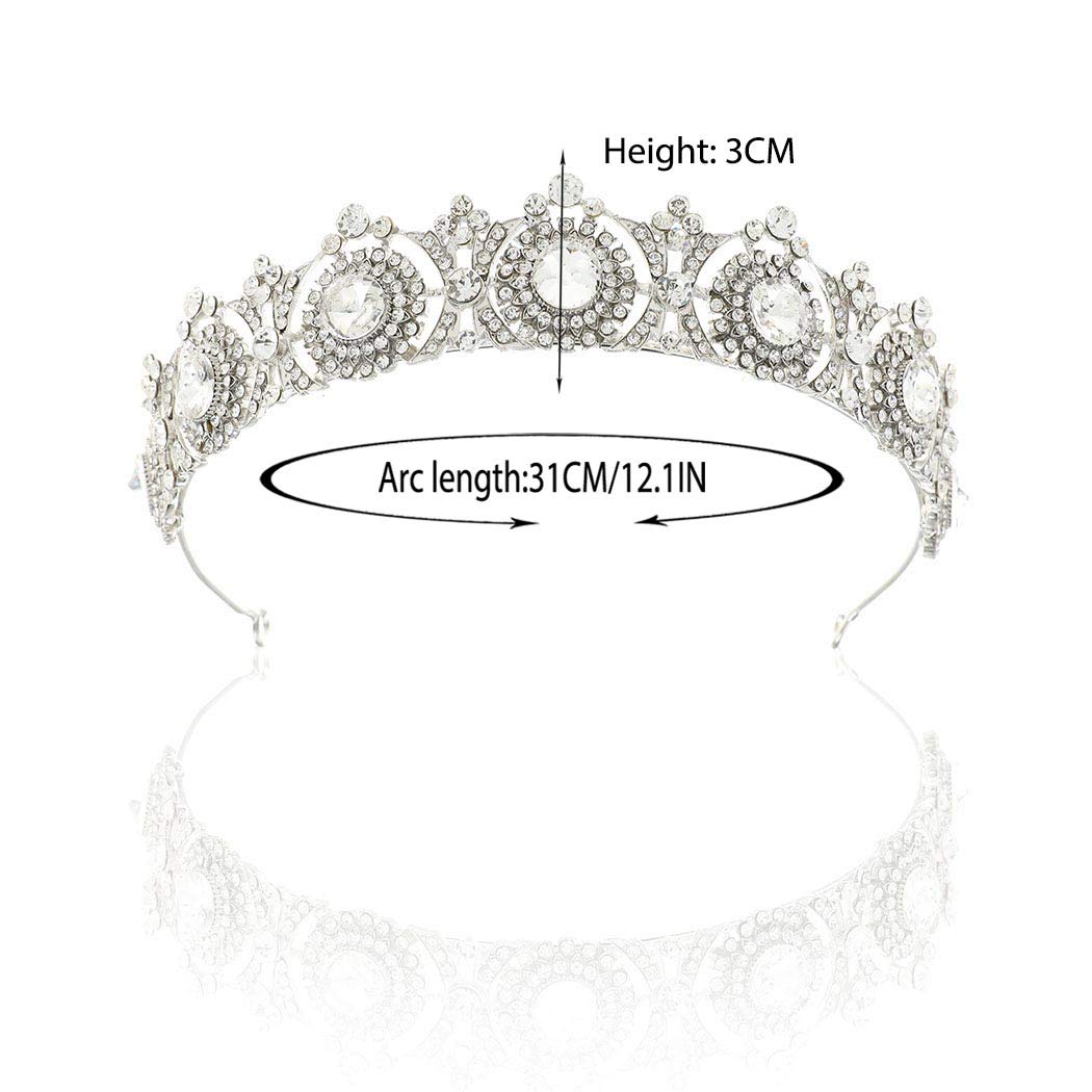 1 Simsly Tiare de mariage mari/ée Fleur couronnes pour femme ( Dor/é ) Hg-25/Argent/é