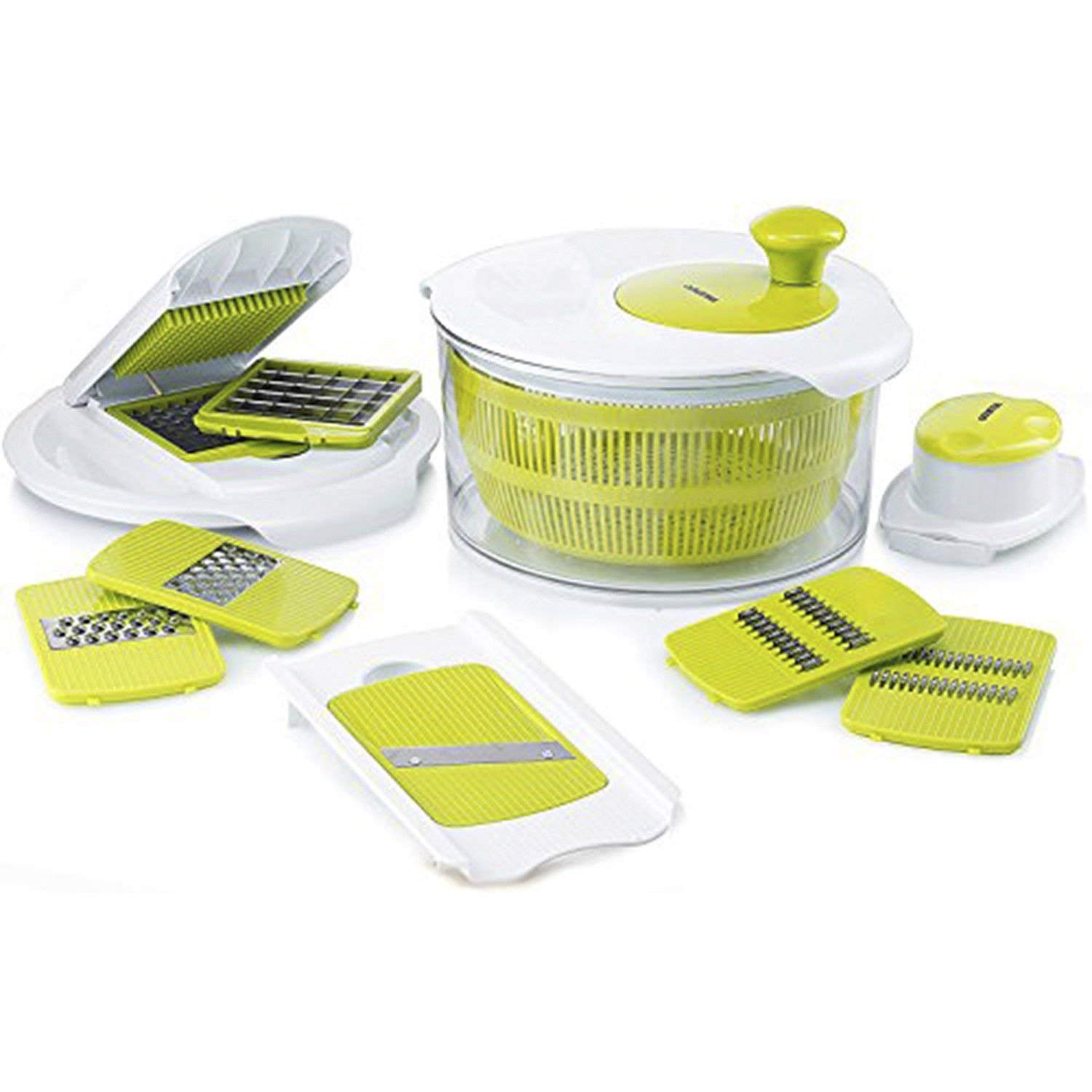Salad Maker Set – Mandoline Slicer & Salad Spinner With Vegetable Chopper & Vegetable Slicer – Salad Cutter Bowl – Vegetable Dicer Set With Grater – Easy Salad Set