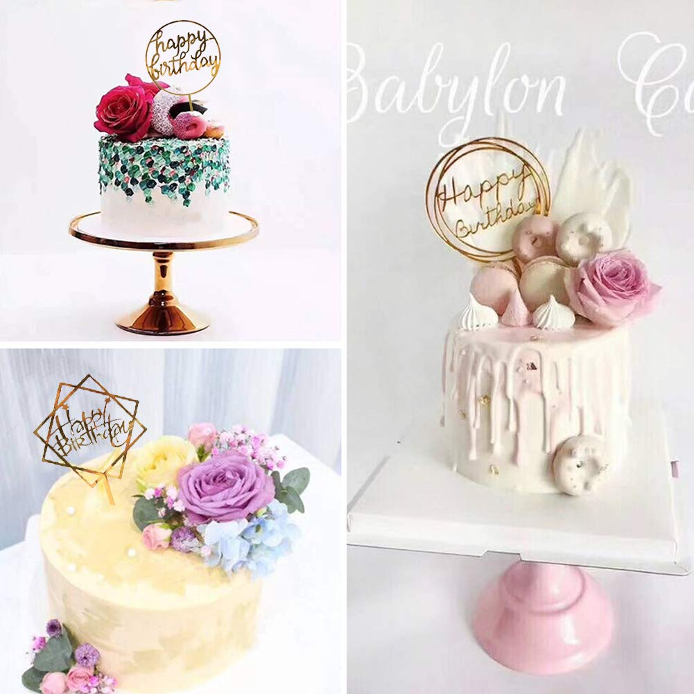 Jatidne Acrylic Cake Topper Birthday Cake Decoration Happy Birthday Party Favors