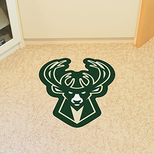 FANMATS 21346 Team Color 3' x 4' NBA - Milwaukee Bucks Mascot Mat