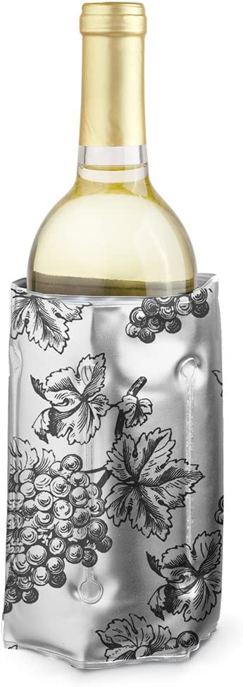 Epic Products Wine Chill Bottle Cooler Grape Design Multicolor