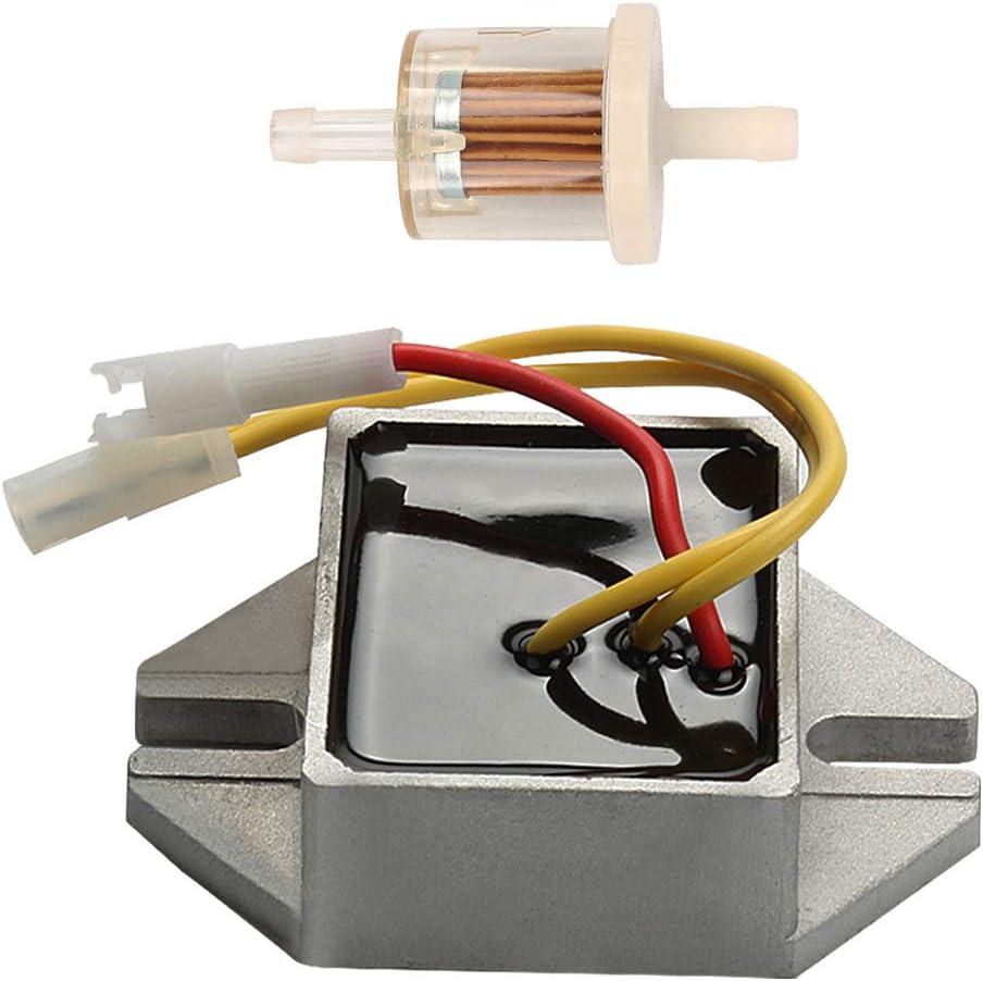 Butom 394890 Electrical Voltage Regulator for 845907 797375 393374 691185 MIU14388 D160 D150 D155 D170 LA140 LA150 LA155 LA165 LA175 with Fuel Filter