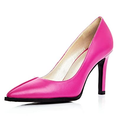 7232485126a0 AdeeSu Womens Light-Weight Slip-Resistant Pointed-Toe Solid Pleather Pumps  Shoes SDC03957