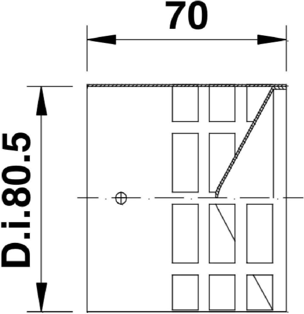 TYGERIX Embout horizontal inox avec grille anti-intrusion /Ø 80 mm /Échappement chaudi/ères et po/êles le top r/ésistance /épaisseur
