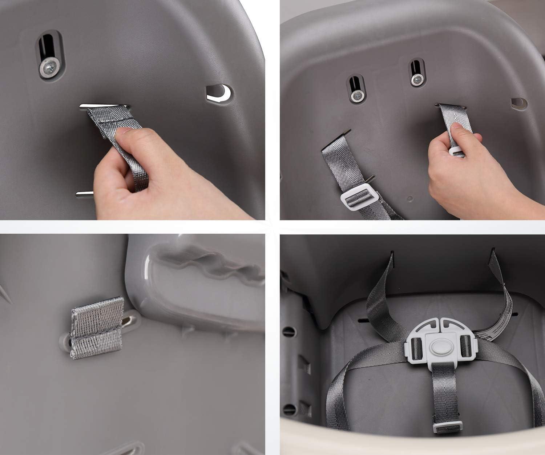 Negro + blanco arn/és de 5 puntos,arn/és universal para silla alta,Cintur/ón de Seguridad del Beb/é,Arn/és Silla Beb/é 5 Puntos Cintur/ón