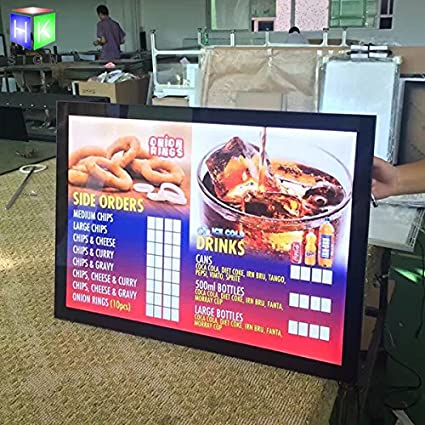 Amazon com : Magnetic Aluminum Led Light Box For Menu Board