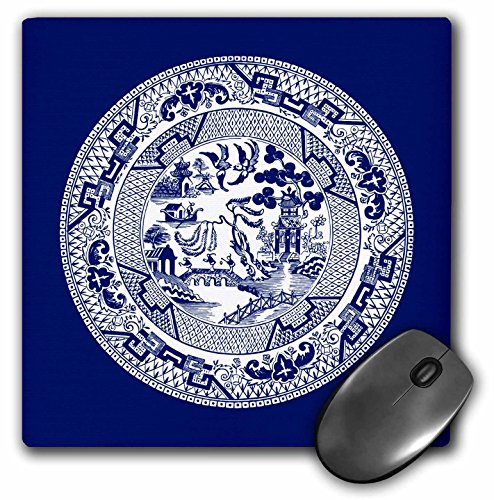 Price comparison product image Willow Pattern in Delft Blue and White - Mouse Pad, 8 by 8 inches (mp_220439_1)