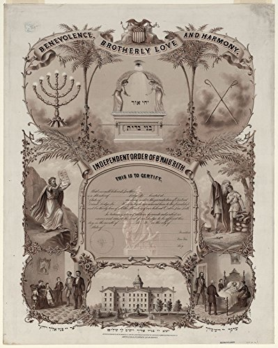 Independent Order of B'nai B'rith, this is to certify./L. Kurz. by Historic Photos