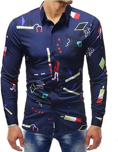 CHENS Camisa/Casual/Unisex/L Colores múltiples Camisa ...