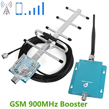 Proutone Mini 900MHz gsm teléfono móvil señal de Refuerzo la señal de gsm repetidor + Yagi Antena con Cable de 10m: Amazon.es: Electrónica