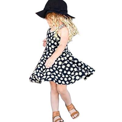 bea1f88530ea1 Moonker Fashion Toddler Infant Baby Girls Summer Dress Sleeveless Floral  Bandage Dresses