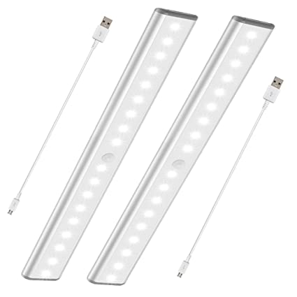 Etonnant Stick On Anywhere Portable Closet Lights Wireless 18 Led Under Cabinet Lighting  Motion Sensor Activated
