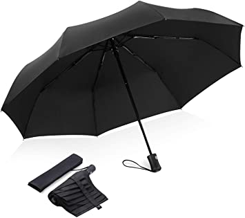 Water Repellent UBDLE Automatic Folding Umbrella Windproof Auto Close with Ergonomic Handle Traveling Umbrella