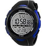 Amlaiworld Sport LED impermeabile orologio da polso Uomini di lusso orologio analogico digitale