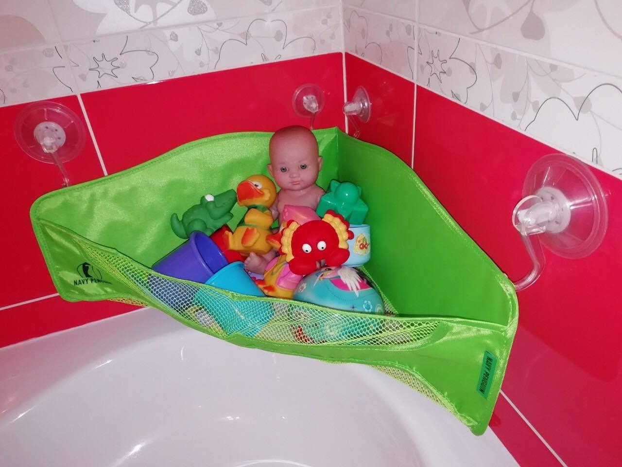 Durable Baby Kids Bath Shower Toys Tidy Bag Net Mesh Storage Holder Organiser