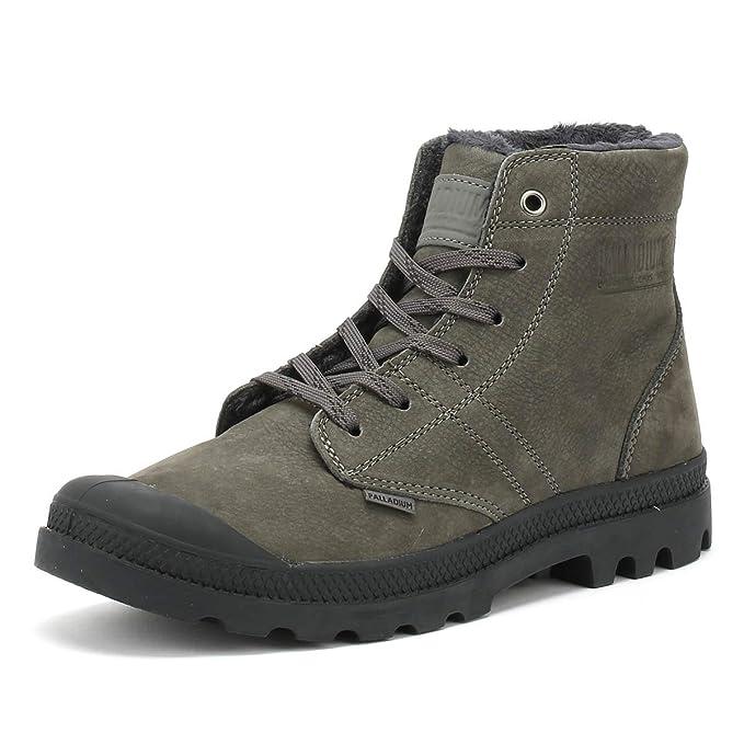 d6988d484b7 Palladium Men's Pallabrousse LT Leather Boots, Grey: Amazon.co.uk ...