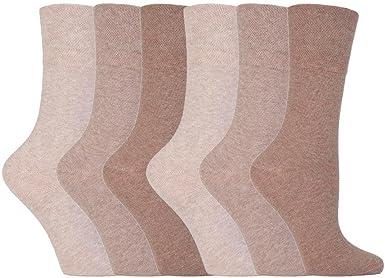 Ladies White Diabetic HoneyComb Top Gentle Grip Non-Binding Socks 3 6 12 Pack