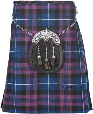Men/'s Kilt BLACK MODERN 5 Yard Tartan Scottish Highland Kilt Size 28-46