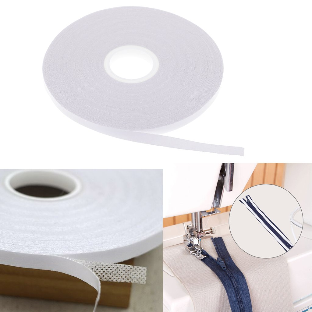 Baoblaze White Double Sided Adhesive Tape for Sewing Quilting Wash Away Tape 20 Meters